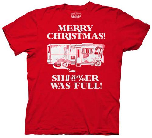 merry christmas shitter was full t shirt Funny Christmas T Shirts for Extra Happy Holidays