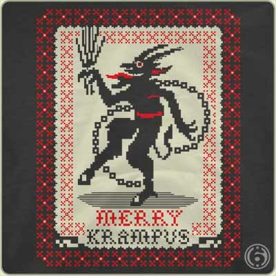 merry krampus t shirt Funny Christmas T Shirts for Extra Happy Holidays