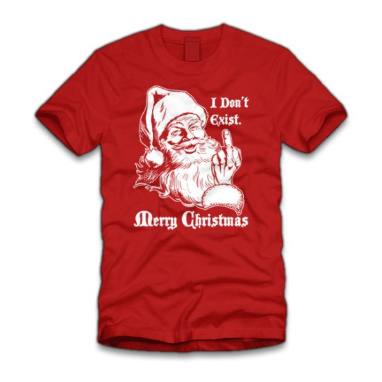 santa i dont exist merry christmas t shirt Funny Christmas T Shirts for Extra Happy Holidays