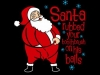 thumbs santa rubbed your toothbrush on his balls t shirt Funny Christmas T Shirts for Extra Happy Holidays