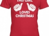 thumbs this girl loves christmas t shirt Funny Christmas T Shirts for Extra Happy Holidays