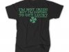 thumbs im not irish but im hoping to get lucky t shirt Funny St. Patricks Day T shirts