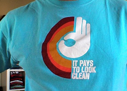 clean tee shirt It Pays to Look Clean T Shirt