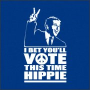 vote hippie tshirt George Bush I Bet Youll Vote This Time Hippie T Shirt