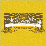 last supper sausage fest Top  11 Funny Jesus Tshirts