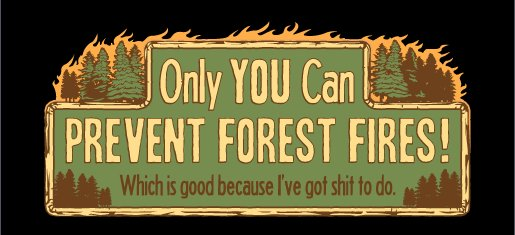 only you can prevent forest fires tee