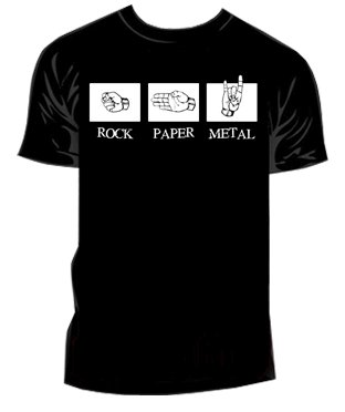 Rock, paper, metal teeshirt