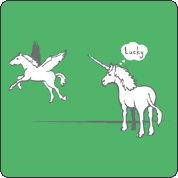 unicorn lucky tee Lucky T Shirt: Unicorn Envies Winged Horse