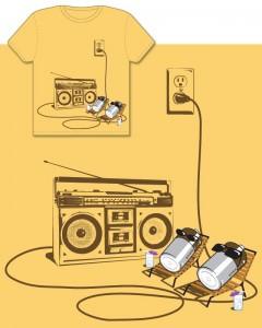 Battery Vacation w/ boombox Tshirt