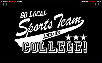 go local sports team and or college tshirt Torso Pants: Very Nice!