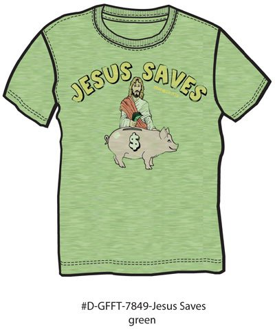 jesus saves piggy bank1 Jesus Saves Piggy Bank Tshirt