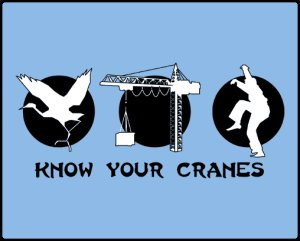 know your cranes tshirt1 Karate Kid Know Your Cranes T Shirt