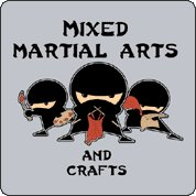 mixed martial arts and crafts tshirt Ninja Mixed Martial Arts and Crafts T Shirt