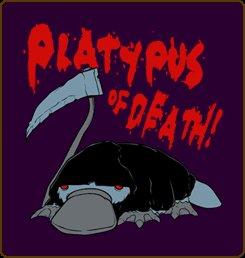 platypus of death tshirt Platypus of Death T Shirt