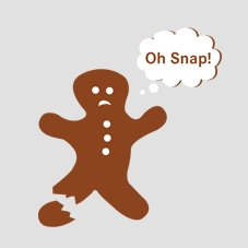 oh snap gingerman broke foot off tshirt Free Shipping at Shirt City Through Xmas