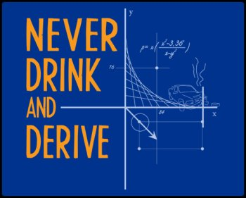 never drink and derive tshirt1 Never Drink and Derive Tshirt