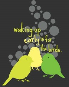 waking up early is for the birds tshirt Waking Up Early is for the Birds T Shirt