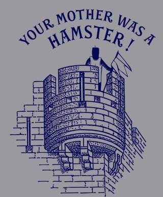 your mother was a hamster tshirt Monty Python & the Holy Grail Your Mother Was a Hamster T Shirt