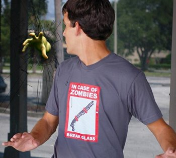 in case of zombies break glass tshirt In Case of Zombies Break Glass T shirt