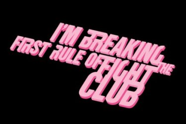 i am breaking the first rule of fight club tshirt Im Breaking the First Rule of Fight Club T shirt