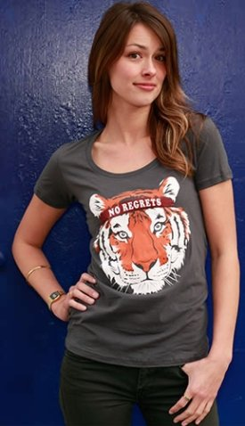 no regrets headband tiger tee shirt No Regrets Tiger with Bandana Tshirt