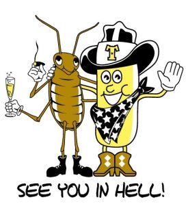 see you in hell twinkie cockroach shirt See You in Hell Twinkie and Cockroach Tee Shirt
