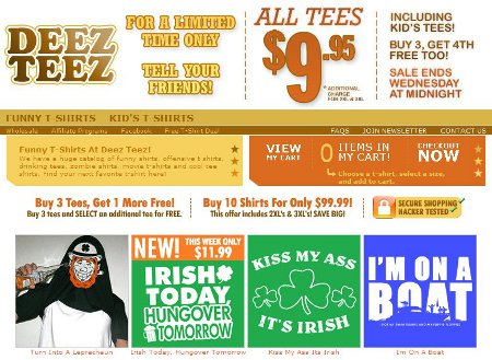 deez teez Funny T shirt Shop Reviews