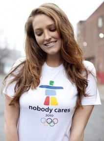 nobody cares 2010 winter olympics vancouver shirt Nobody Cares Winter Olympics 2010 Vancouver Tshirt