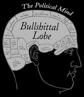 bullshittal lobe the political mind tee Bullshittal Lobe – The Political Mind Tee shirt