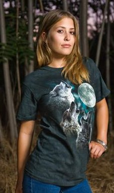 three wolf howl at the moon dwight the office tshirt The Office Three Wolf Moon Tshirt
