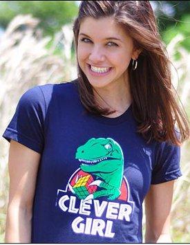 clever girl dinosaur rubiks cube tshirt Dinosaur Solves Rubiks Cube Jurassic Park Clever Girl Tshirt