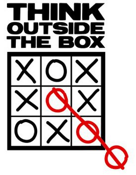 think outside the box tic tac toe tshirt1 Think Outside the Box Tic Tac Toe Tshirt