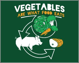 vegetables are what food eats tshirt Vegetables Are What Food Eats T shirt