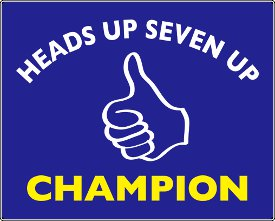 heads up seven up champion tshirt Heads Up Seven Up Champion T shirt