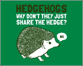 hedgehogs why dont they just share the hedge no tshirt Hedgehogs...Why dont they just share the hedge Tshirt