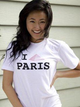 i pictograph pyramid paris tshirt I Love Paris Pictograph Pyramid Tshirt