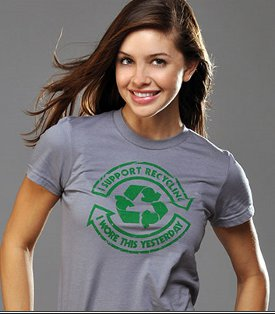 i support recycling i wore this shirt yesterday tshirt I Support Recycling: I Wore This Yesterday T shirt