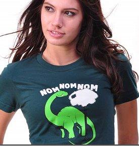 nom nom nom tshirt Nom Nom Nom Dinosaur Jurassic Park T shirt