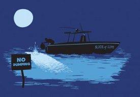 slice of life boat no dumping tshirt1 Dexter Slice of Life No Dumping Tshirt