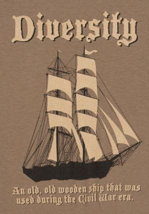 diversity an old old wooden ship that was used during the civil war era tshirt Best Anchorman T Shirts