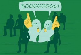 ghosts boo foam finger t shirt Ghosts Boo Foam Fingers T Shirt