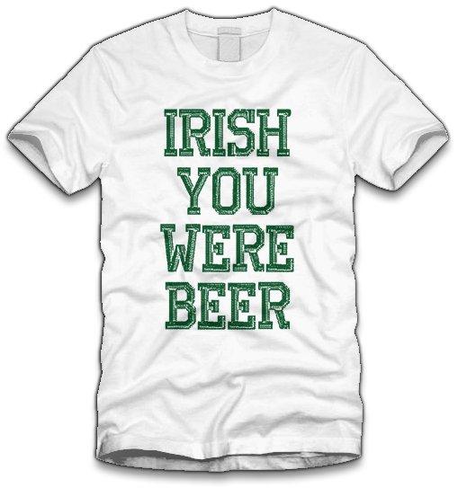 83bde4f14f1 thumbs irish you were beer t shirt Funny St. Patricks Day T shirts