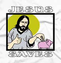 jesus saves piggy bank t shirt Best Funny Jesus Tshirts