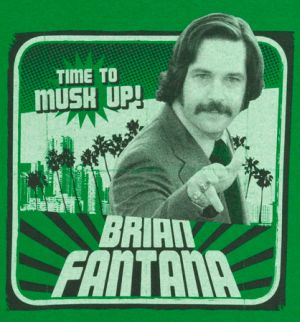 time to musk up brian fontana tshirt Best Anchorman T Shirts