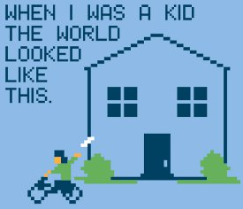 when i was a kid the world looked like this t shirt When I Was a Kid the World Looked Like This 8 Bit Paperboy Video Game T Shirt