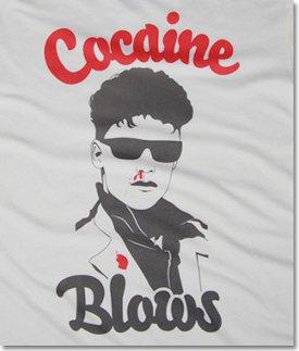 cocaine blows t shirt Cocaine Blows T Shirt