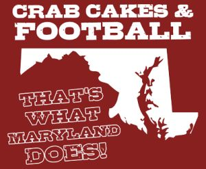 crab cakes and football thats what maryland does tshirt Best Funny Football T Shirts