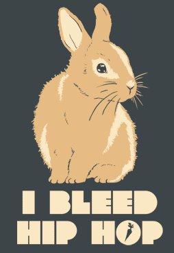 i bleed hip hop bunny t shirt I Bleed Hip Hop Rabbit T Shirt