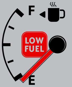 low fuel coffee t shirt Running On Empty – Low Fuel Coffee T Shirt