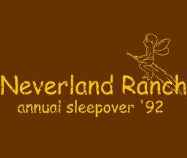 neverland ranch annual sleepover 92 t shirt Neverland Ranch Annual Sleepover '92 T Shirt